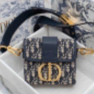 Dior Oblique 30 Montaigne Box Bag Blue